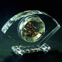 Buy cheap K9 crystal clock, available in various shapes, customized logos are accepted from wholesalers