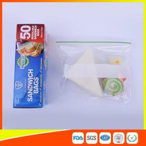 Best Multi Size Ziplock Plastic Bags For Food Storage , Zip Sandwich Bags OEM Acceptable wholesale