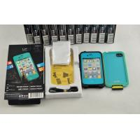 Best Blue Protective Waterproof Cell Phone Case Teal Lifeproof For Iphone 4G wholesale