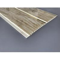 Cheap Customized Plastic Bathroom PVC Wood Panels , Bathroom Ceiling Cladding Panels for sale