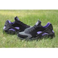 Best Cheap Nike Air Huarache Black Purple free shipping wholesale