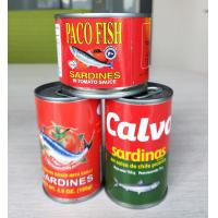 Buy cheap Canned sardine fish in chili in tomato sauce/canned sardine in fish in oil/ocean from wholesalers