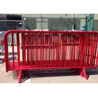 Best Crowd Control Metal Pedestrian Barriers Electrostatic Coating For Concert wholesale