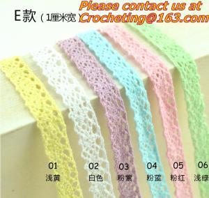 China elegant 4.8-5cm width 10 yard / lot DIY handmade craft crocheted lace trim for garments on sale