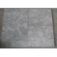 Best Polished White Carrara Marble Tile Slabs , Outdoor Floor Marble Garden Tiles wholesale