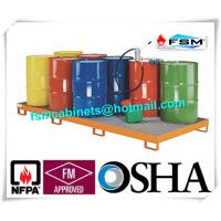 Best Galvanized Steel Pallet Spill Containment Drum Platform For Multi Drums Storing wholesale