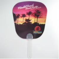 Cheap Custom Printed 0.6mm PET 3D Lenticular Hand Fans / 3D Lenticular Printing for sale