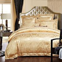 Buy cheap Rose Golden 400T Jacquard Bedding Set / Non - Pilling Hotel Collection Bed Linen from wholesalers