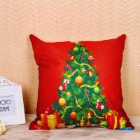 Best Festival Decoration Pillow Cushion Covers Square Shape With Printed Christmas Tree wholesale