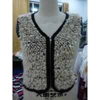Best Faux Fur Black Binding Fashionable Winter Coats Sleeveless Zip Up Vest For Lady wholesale