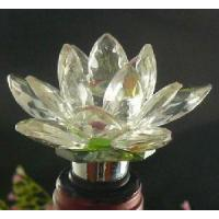 China Crystal Glass Wine Accessories--Lotus Wine Stopper on sale