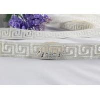 Best Irregular Graph 100% Cotton Lace Fabric Trim For Garment By The Yard Water Soluble wholesale