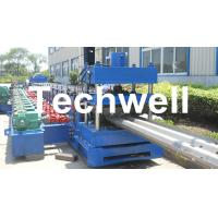Best 15KW Highway Guardrail Roll Forming Machine With 7 Rollers Leveling For W Beam Guardrail wholesale