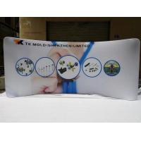 Best 10FT Curved Waveline Lightweight Trade Show Displays , Stretch Fabric Display wholesale