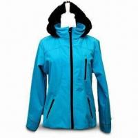 Best Women's Outdoor Coat, Made of 100% Polyester, Available in Light Blue wholesale