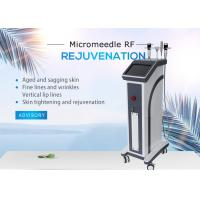 Skin Tightening Fractional RF Microneedle Machine / 2MHZ Micro - Electrode Tip Winkle Removal Equipment
