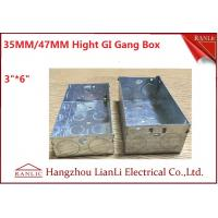 "Cheap 3""*6"" Metal Electrical Gang Box BS4662 Hot Dip Galvanized Coil With Adjustable for sale"