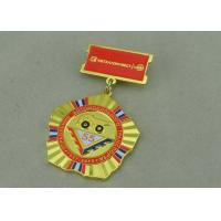 Quality Zinc Alloy Military Custom Awards Medals 3D Die Casting With Soft Enamel wholesale