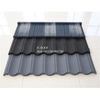 Best Coffee Brown Color 0.4 mm Stone Coated Steel Roofing Sheet sizes , 1340 x 420 mm Metal Roofing Tiles wholesale