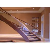 Best Pvc Handrail Building Curved Stairs Oak Stairs Non Slip AS/NZS 2208 Certificate wholesale