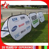 Cheap Oval Popup A Frame Banners Dye Sublimation Different Graphic Printing On Double Sides for sale