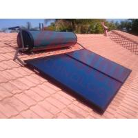 Best Integrated Pressurized Solar Water Heater Blue Titanium Coating Flat Plate Solar Collector wholesale