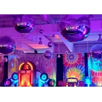 Buy cheap Giant Sliver Inflatable Mirror Ball For Christmas Decoration from wholesalers