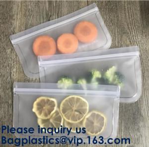 Buy cheap PEVA Snack Food Packaging 5pcs Set Pack Food Snack Storage PEVA Ziplock Reusable from wholesalers