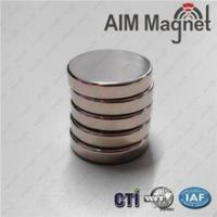 Buy cheap factory offer N52 10mm x 1.5mm disc magnets Zinc coating from wholesalers