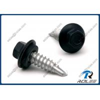 China 410 Stainless Painted Hex Flange Head Self Drilling Screw with Neoprene Washer on sale