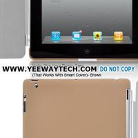 Best Matte Skin Hard Plastic Case For iPad 2 (That Works With Smart Cover) - Brown wholesale