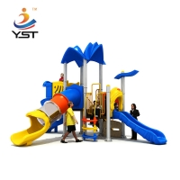 Buy cheap High quality multifunctional children outdoor play area playground wholesale daycare kids plastic slide swing set from wholesalers