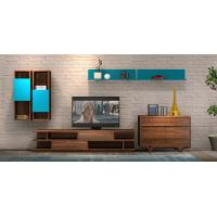 Best 2017 New Living room Furniture TV Wall Unit Floor stand Hang cabinet in MDF melamine with High glossy panel wholesale