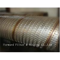 China 316L Stainless Steel Perforated Metal Tube For Tubing Strength And Decorative on sale