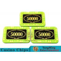 Best Anti - Counterfeiting Crystal Poker Chips / Rectangular Poker Chips For Casino wholesale