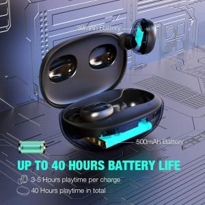 Best Wireless Earbuds Bluetooth 5.0 Headphones Deep Bass 3D Stero Sound Mini Headsets 40H Total Playtime with Charging Case wholesale