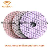 Best 4 Inch White Hexagon Velcro Flexible Dry Polishing Discs for Marble Granite wholesale