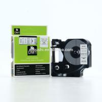 Best 12mm black on white compatible dymo D1 tape 45013 for DYMO labelManeger label printer wholesale