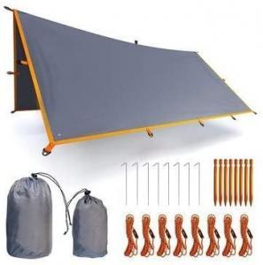 Best UPF50+ Waterproof Fly Tarp Shelter 9.8X9.8ft wholesale