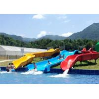 Best Commercial Above Ground Pool Slide Fiberglass Aqua Funny Equipment wholesale