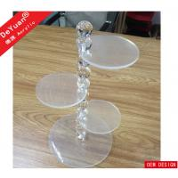 China 3 Tiers Customized Clear Acrylic Cake Stand With Bubble Rod Display on sale