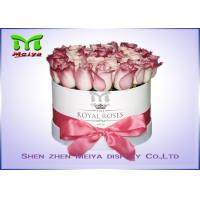 Cheap Romantic Beautiful Flower Gift Luxury Flower Box With Ribbon , Flower Hat Box for sale