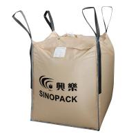 Best Beige Four-panel Big PP Container Bag FIBC with side seam loops wholesale