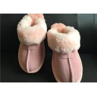 Best AUSTRALIA kids Sheepskin Slippers Chestnut Winter Warm Indoor Shoes wholesale