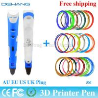Best Colorful portable functional 3d printer pen with ABS / PLA 1.75mm filament wholesale