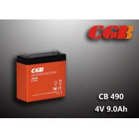 Best 1.12KG Sealed Lead Acid Battery 4V 9Ah CB490 Series ABS Plastic V0 Battery wholesale