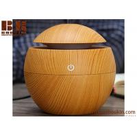 China Manufacture OEM Mini Electric Aroma Essential Oil Diffuser Wood Grain Ultrasonic Nebulizer Portable Cool Mist Humidifier on sale