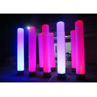 Best Colorful Inflatable Column Built In Blower With Led Light / Repair Kit wholesale