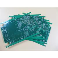 China 6 Layer HASL PCB Built On FR-4 With Green Solder Mask on sale