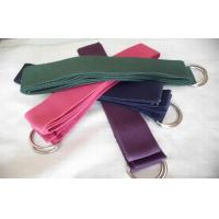 Best Heavy Duty Yoga Stretch Strap Double Metal D Ring Custom Elastic Band wholesale